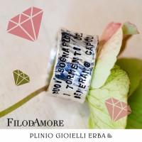 Gioielli personalizzati Filodamore, scopri tutta la linea da Plinio Gioielli a Erba!