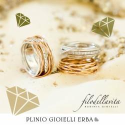 Filodellavita classic collection di Rubinia gioielli disponibile a Erba nella nostra gioielleria