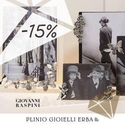 Promozione Giovanni Raspini: tutta l'oggettistica al 15% di sconto